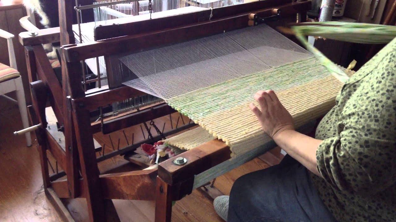 Diagram Of Weaving Loom John Deere 1020 Alternator Wiring The Basics Rug On A Union 36 Youtube