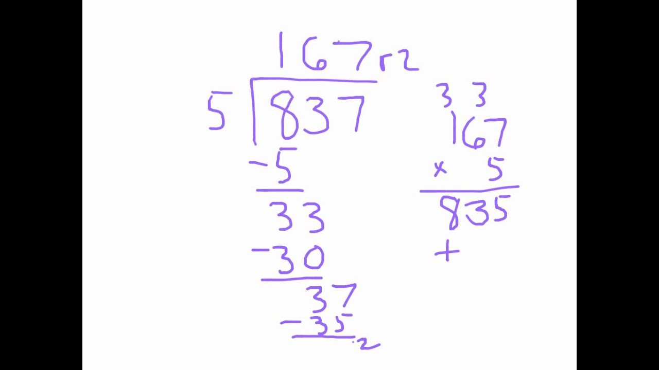 worksheet Single Digit Division long column division by single digit practice youtube practice