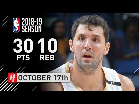 Nikola Mirotic Full Highlights Pelicans vs Rockets 2018.10.17 - 30 Pts, 10 Reb, SICK