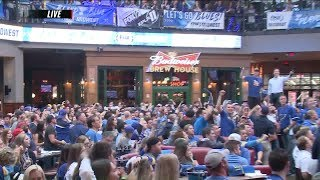 Blues fans watch Stanley Cup Game 7 in Boston from Ballpark Village in St. Louis