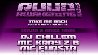 Drum & Bass 1999 | DJ Chillem With MC Kray Z B & Funsta MC | Ruud Awakening FM 104.3 (Pirate Radio)