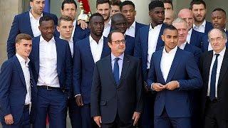 Fransa cumhurbaşkanı milli takım oyuncularını Elysee Sarayı'nda ağırladı