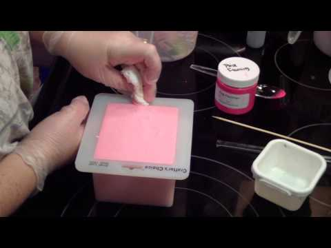 Making & Cutting Plumeria Soap for BeScented