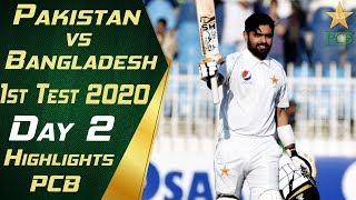 Pakistan vs Bangladesh 2020 | Full Highlights Day 2 | 1st Test Match | PCB