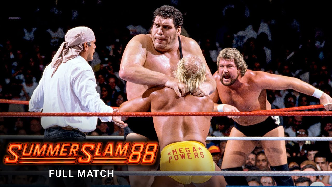 Download FULL MATCH - Hulk Hogan & Randy Savage vs. Andre the Giant & The Million Dollar Man: SummerSlam 1988