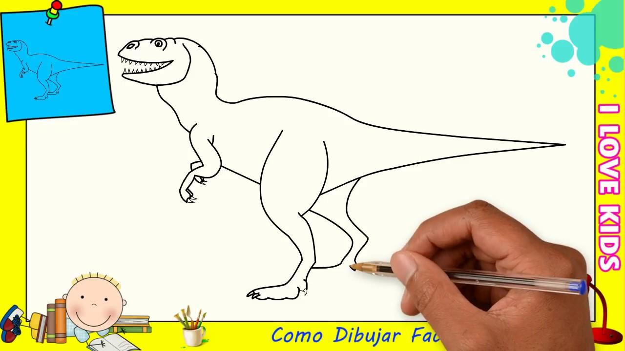 Como Dibujar Un Dinosaurio Facil Paso A Paso Para Ninos Y Principiantes 2 Youtube Aprender a dibujar y colorear dinosaurios. como dibujar un dinosaurio facil paso a paso para ninos y principiantes 2