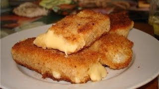 #Рецепт  жареного сыра))