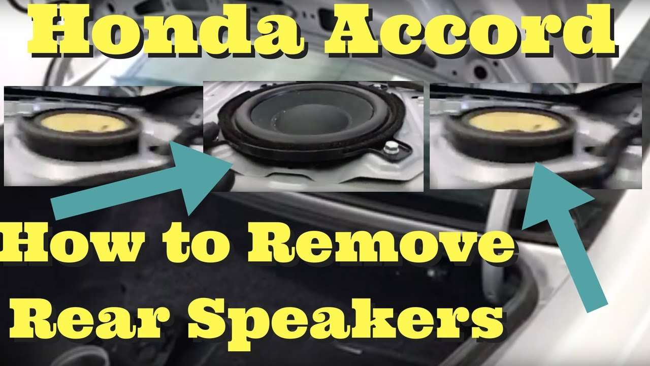 2013 2014 2015 2016 2017 -- Honda Accord Coupe How to Remove Rear Speakers Replace Intall ...
