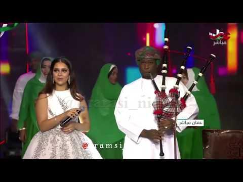 فن المدار غناء الفنانة بلقيس #مهرجان_صلالة_السياحي 2018