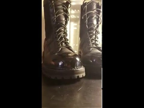 Best Way To Shine Leather Boots (heat Gun)