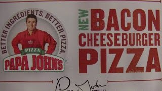 sAs PizzaNight: PapaJohn's Bacon Cheeseburger Pizza