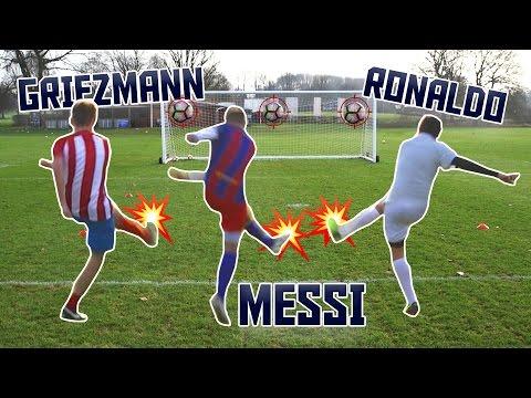 MESSI v RONALDO v GRIEZMANN! | Football Challenges FIFA Best Player