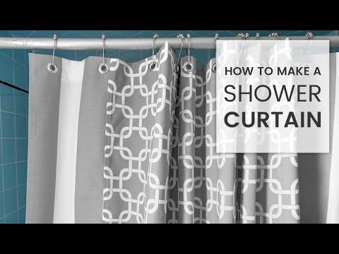 How to Make a Shower Curtain - YouTube 0bd0babde