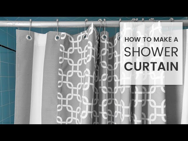 How To Make A Shower Curtain Youtube