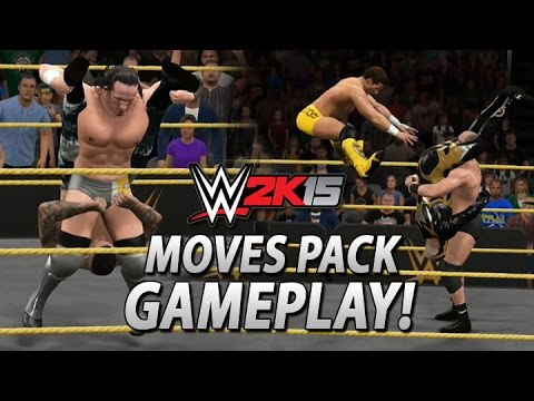 WWE 2K15: New DLC Moves Pack Gameplay! (All New Moves)