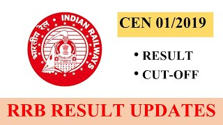 "♦RRB NTPC CEN 01/2019 Results Update♦ 🔶""Result Date/Cutoffs""🔶  #RRBNTPC"