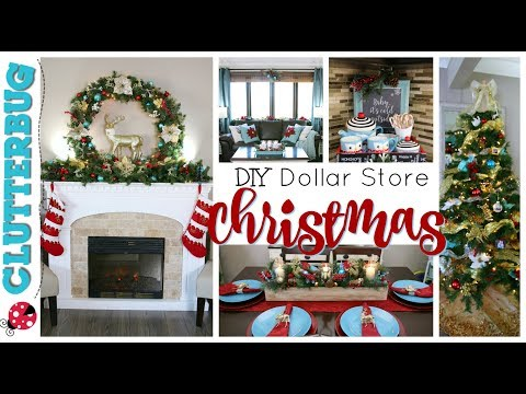 DIY Dollar Store Christmas Decor - Decorate With Me