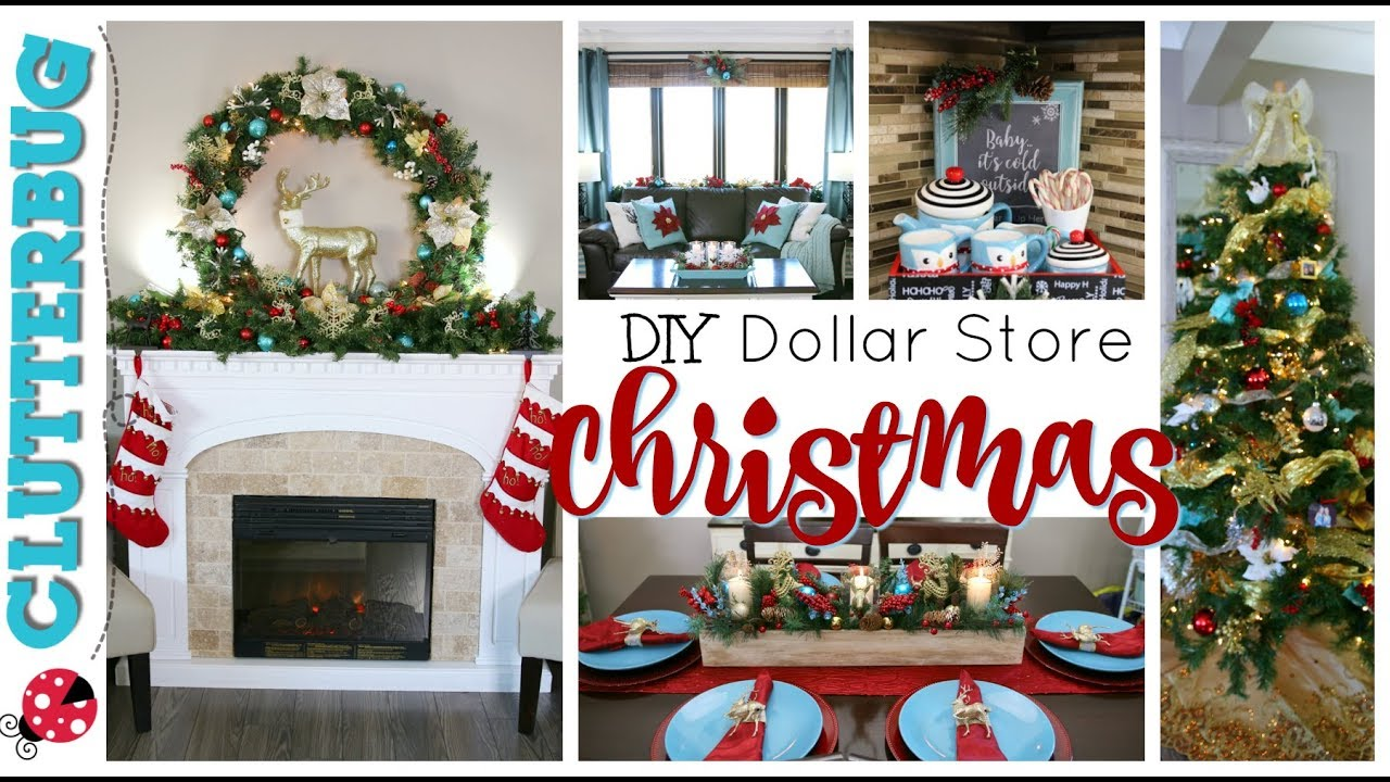 Diy Dollar Store Christmas Decor Decorate With Me