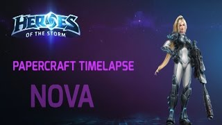 Papercraft Timelapse: Nova (Heroes of the Storm)