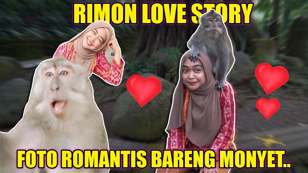 Monyet Ini Selfie Pake HP Aku.. Rimon Love Story..
