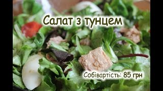 Салат з тунцем / Овочевий мікс з тунцем / Vegetable mix with tuna  / Овощной микс с тунцом