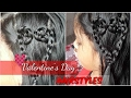 Heart hairstyles for valentine's day / for short,medium and long hair /Namrata singh