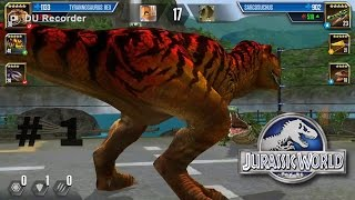 Video Jurassic world the game | BATTLE STAGE 39 AND T-REX LEVEL 30 download MP3, 3GP, MP4, WEBM, AVI, FLV Juni 2018