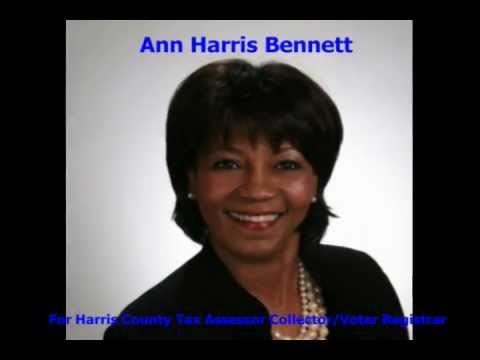 Ann Bennet For Harris County Tax Assessor Collector/Voter Registrar