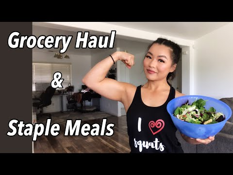 Grocery Haul / Salad Recipe / Staple Meals / Do I Miss Meat?