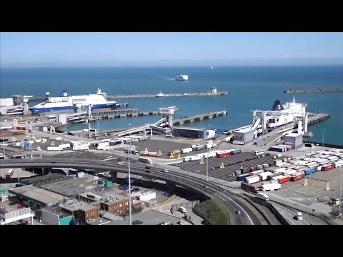 Dover harbour - Time lapse video - 16th July 2014