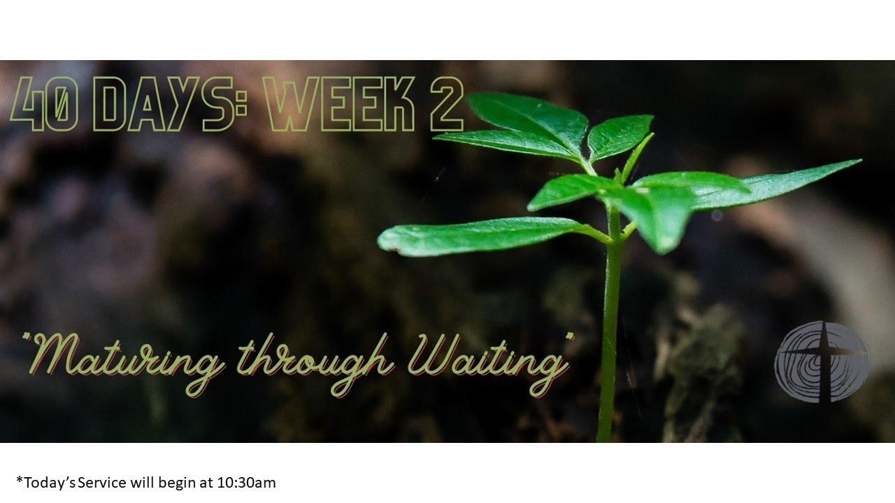 Sunday Service 20th September 2020 - 40 Days of Waiting - Week 2
