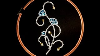 hand embroidery bead embroidery pearls