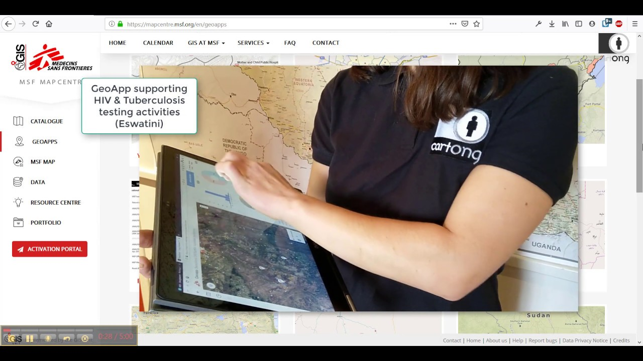 The Map Centre V2: an online GIS platform designed by CartONG in support to the MSF GIS Unit