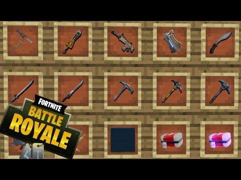 todas las armas pociones y mas de fortnite battle royale en minecraft fortnite mod 1 12 2 - foto de todas as armas do fortnite