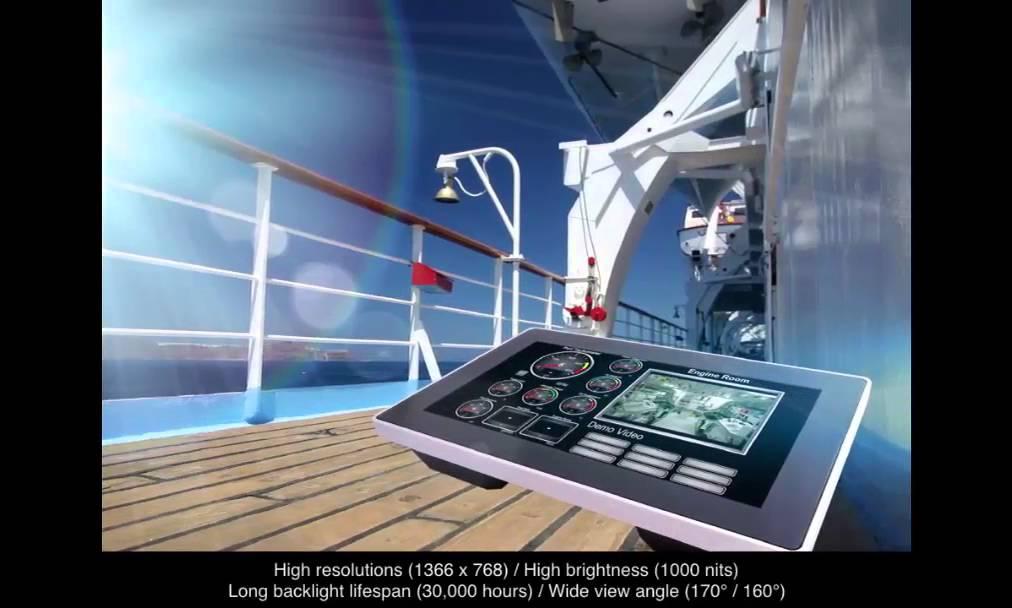 Marine Grade Computer / Nautical Panel PC By Rohtek Automation HMI OIT