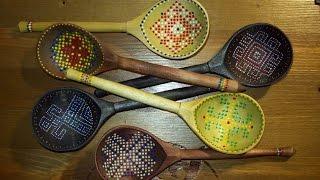 Игра на деревянных ложках от мастерской