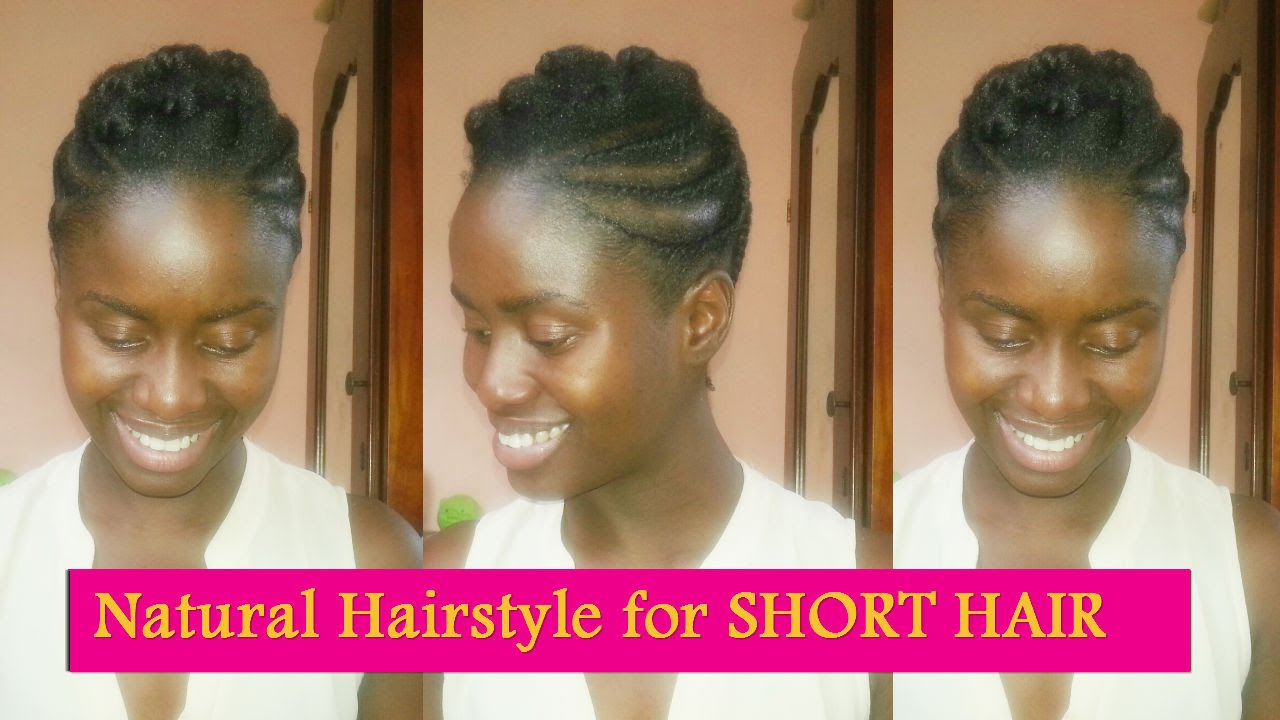 Flat Twisted Pompadour Natural Hairstyle For Short Hair Youtube