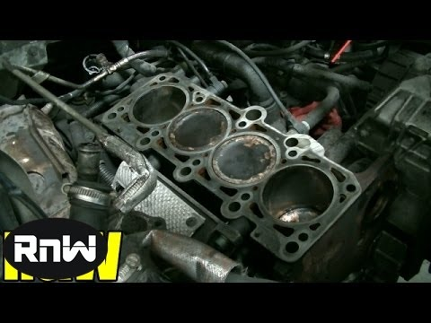 How to Remove and Replace a Cylinder Head - Audi A4 A6 VW Passat Jetta 1.8L Engine Part 2