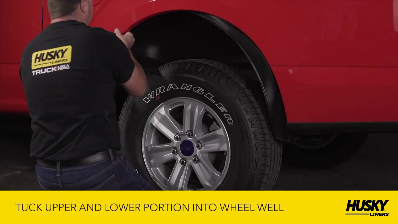 Husky Liners 79101 Rear Wheel Well Guards 2006 14 Ford F 150 Installation Tutorial Instructions Youtube