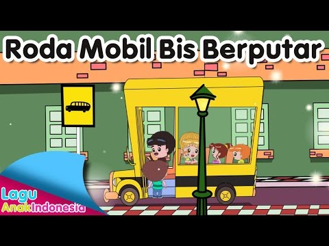 Roda Mobil Bis Berputar (Wheels on the bus) | Lagu Anak Indonesia