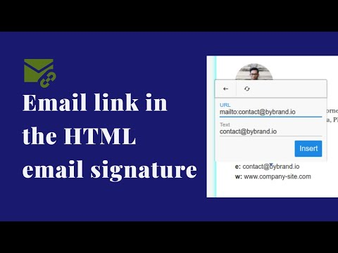 Add Email Link In An HTML Email Signature
