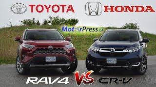 2019 Toyota Rav4 Limited AWD Vs 2019 Honda CR-V Touring AWD | Head 2 Head