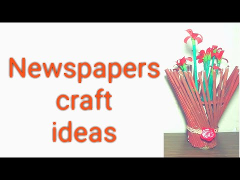 Newspaper craft ideas best out of waste craft ideas/ best use of old newspaper