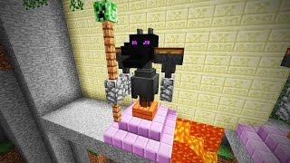 Майнкрафт: Как построить статую Дракон Эндер (Minecraft 1.9)