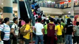 Christmas Day At A Shopping Mall In The Philippines