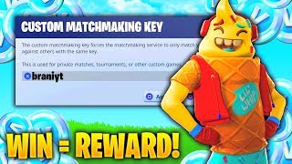 FORTNITE CUSTOM MATCHMAKING GAMES! WINNER GETS FREE REWARD! OPEN CUSTOM LOBBY
