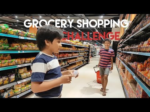 Kids Brother - Kids Grocery Shopping Challenge - With Fadhel, Rey, & Vanessa