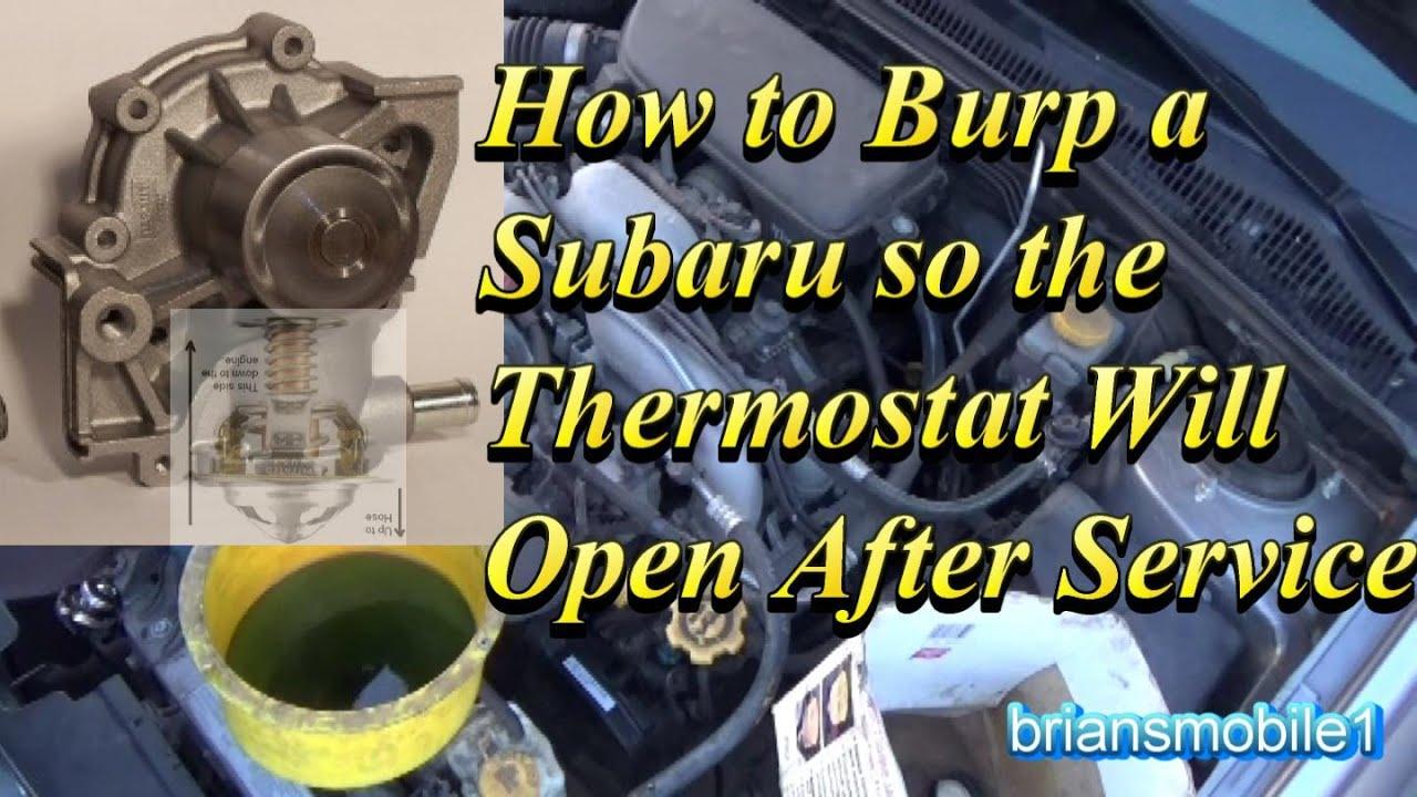 medium resolution of burp an overheating subaru after service