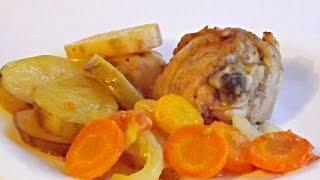 Курица в Рукаве с Овощами кулинарный видео рецепт
