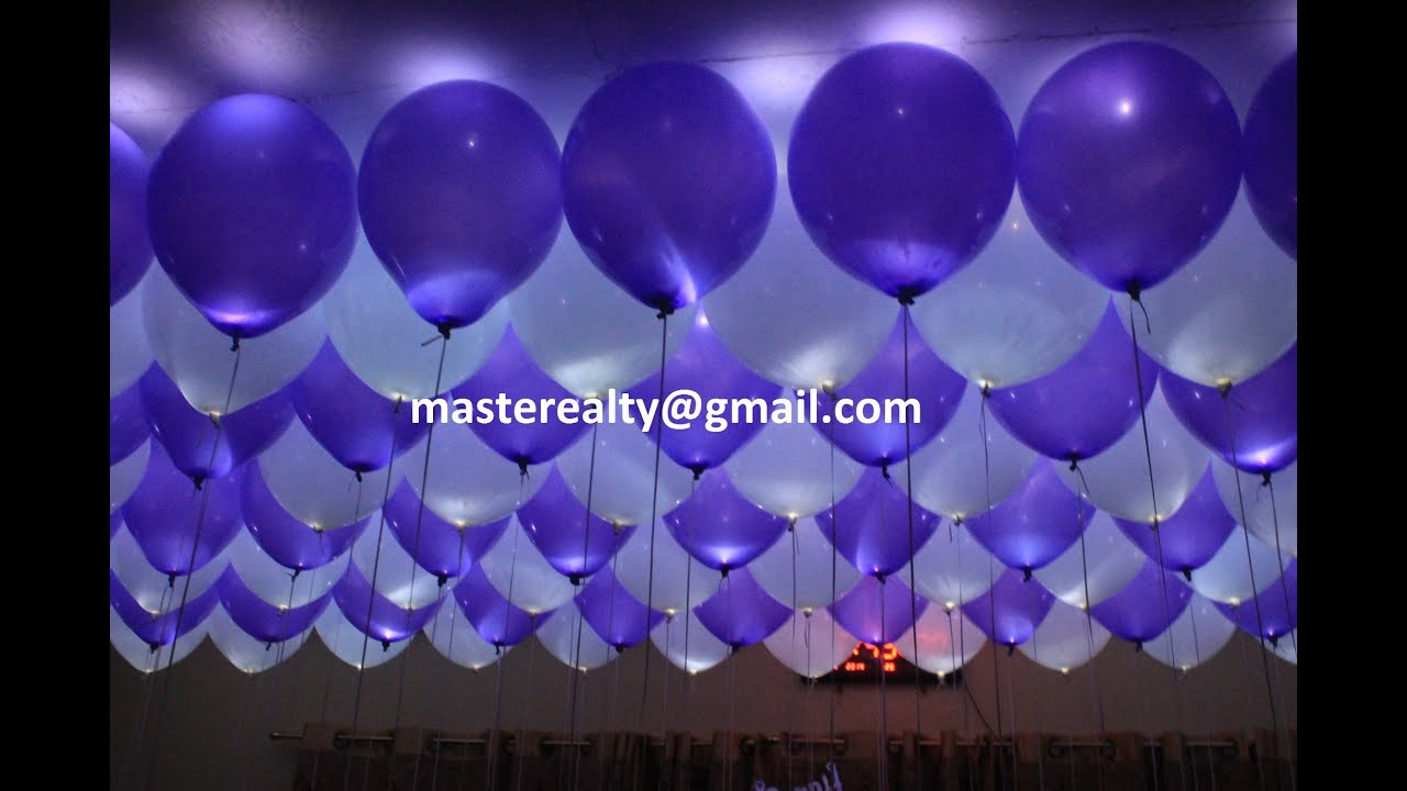 maxresdefault Luxus Ballon Mit Led Licht Dekorationen